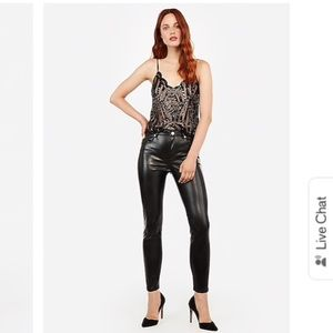 NWT high waisted vegan leather ankle leggings